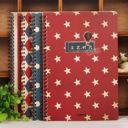 New Lenwa Notebook B5 Literature Art Era Series Diary Book Notebook Notepad Korea School Supplies Stationery Cute
