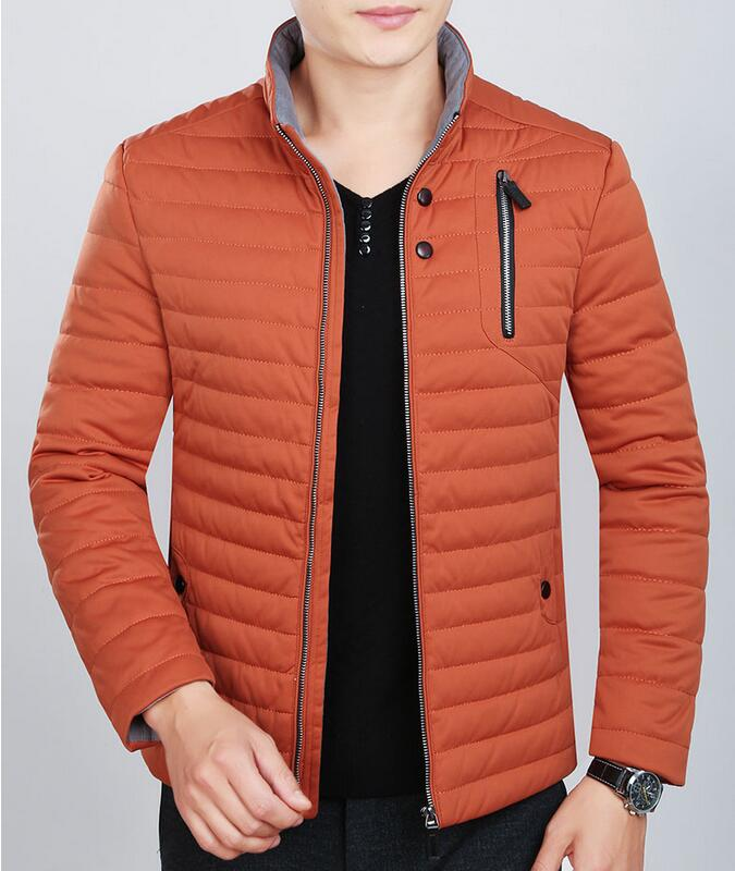 2017 Men s Winter New Cotton Padded Jacket Male Fashion Men S Clothing Outerwear Male Down