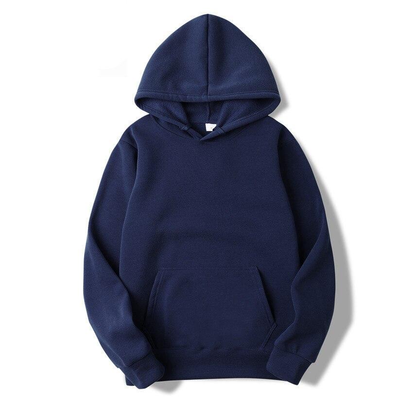 Quality Brand Men Hoodie Autumn Male Hip Hop Street wear Men Pullover Sweatshirts Hoodies Mens Solid Color Hoodie 7