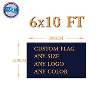 6x10FT Custom Flag 180X300cm 100D Polyester Free Design Digital Printing Hand Banner Home Decoration