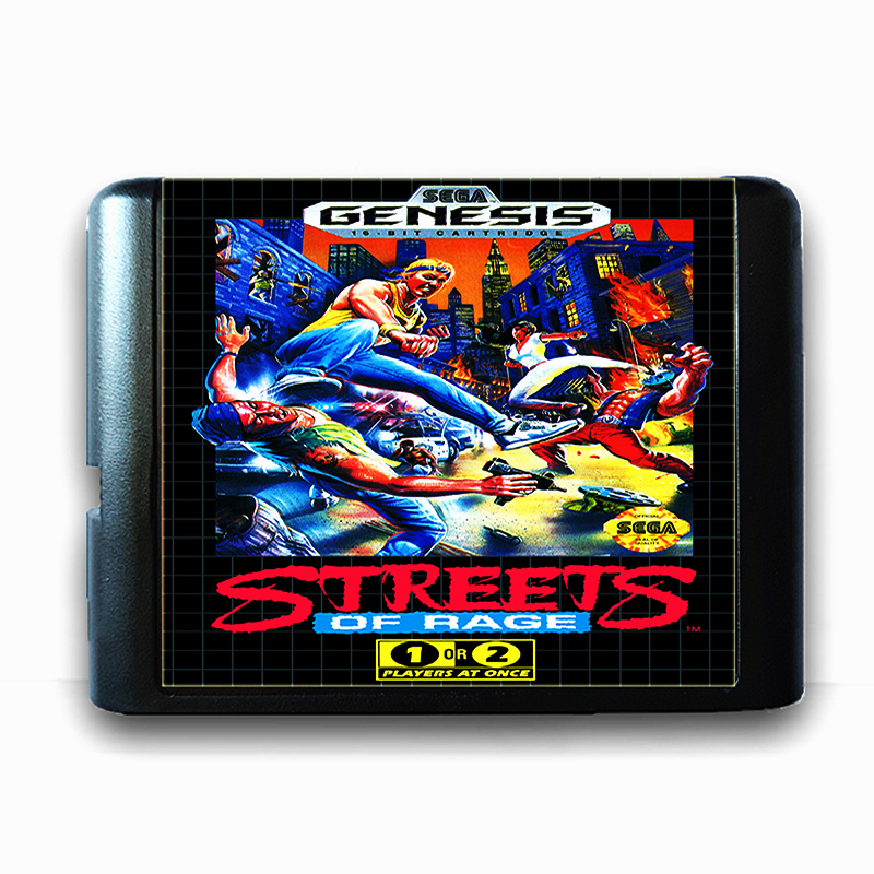 Street Of Rage for 16 bit Sega MD Game Card for Mega Drive for Genesis US PAL Version Video Game Console
