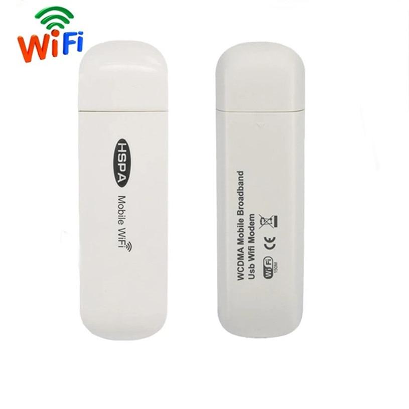 3G USB Modem Mobile Wifi Hotspot Broadband Car Wireless Router Global Unlock Dongle Wi-fi Mini Mifi with SIM Card Slot