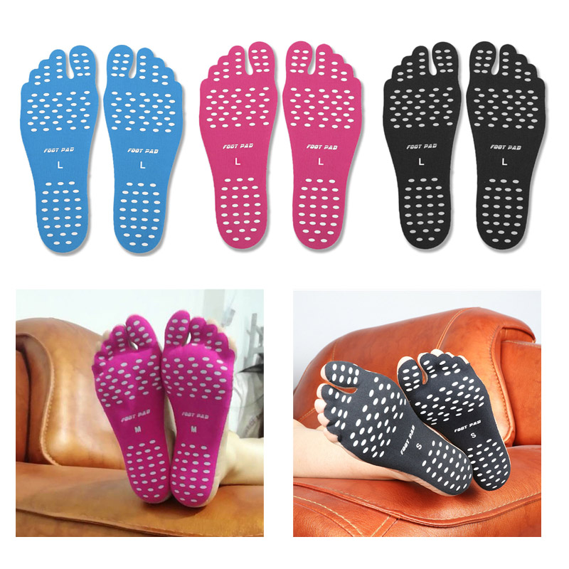 Adhesive Foot Pad Feet Sticker Protection Shoes Soft Flexible Beach Feet Insoles Shoe Accessories 1 Pair Insulation