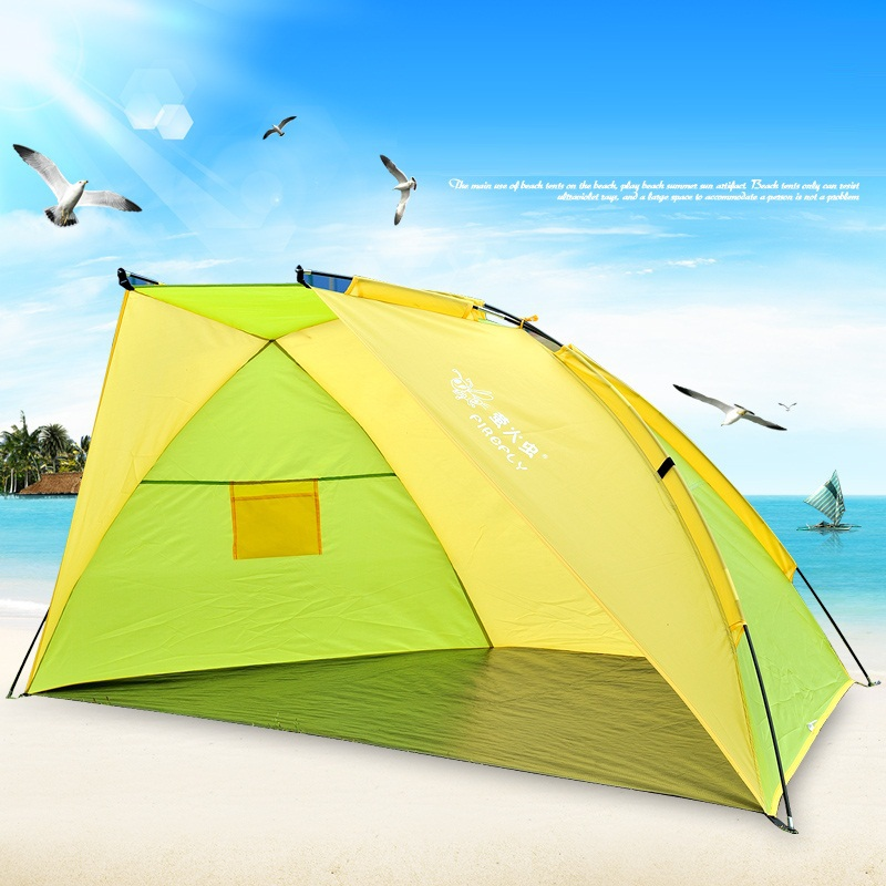 Outdoor summer beach tent fishing tent sun shelter c&ing tent gazebo UV protection sun shade quick open beach awning-in Tents from Sports u0026 Entertainment ... : beach tent uv protection - memphite.com
