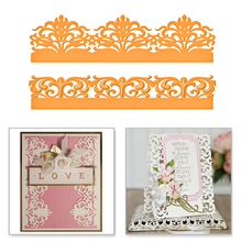 YaMinSanNiO Lace Flower Tree Edge Frame Metal Cutting Dies Scrapbooking for Background Album Decorative Embossing New 2019