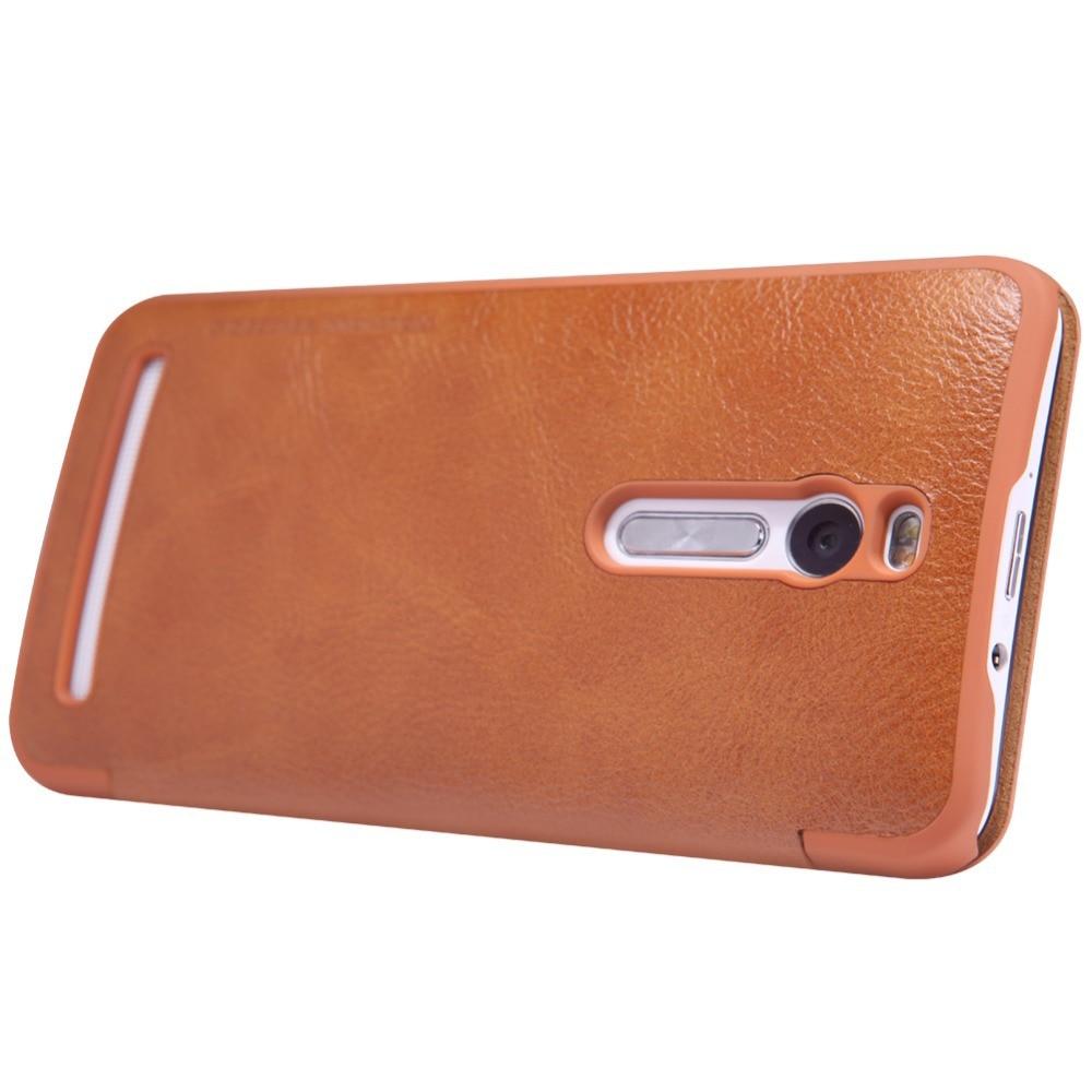 Nillkin Qin Leather Case Asus Zenfone 2 55 Ze551ml Red Spec Dan Free Sg Retro Flip 3 Ze552kl Inch Series For Inchze551ml Ze550ml