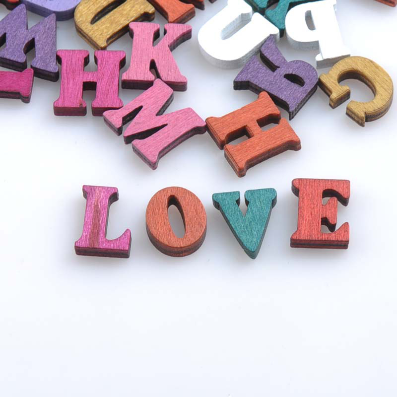 Multicolor-Mixed-A-Z-Letter-Alphabet-Vintage-Wooden-Scrapbooking-Handmade-Carft-for-Home-Decoration-100pcs-16mm