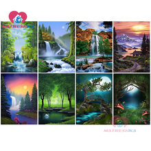diamond painting accessories mosaic paintings landscape waterfall Wall stickers embroidery with