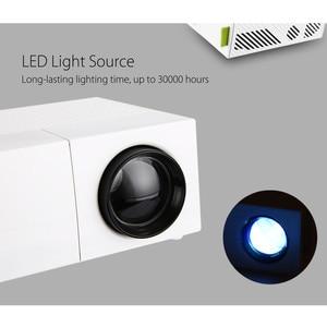 Image 2 - Excelvan YG310 обновленный YG300 светодиодный портативный проектор 800LM 3,5 мм 320x240 HDMI USB Мини проектор домашний медиаплеер Поддержка 1080p