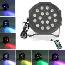 Sound/Remote Controll 18W Disco Light DMX 512 LED DJ Stage Light Effect Christmas Party Lamp RGB Laser Projector Christmas Decor(China)