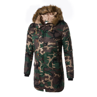 Russian Winter Parkas Long Windproof Jacket Men Thicken Camouflage Coat Male New Fur Collar Hooded Jacket Men Abrigos Hombres