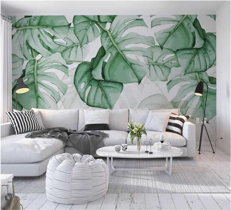 Custom Mural Wallpaper Hand Painted Tortoise Shell Back Tropical ...