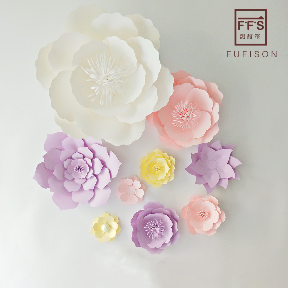 FFS Paper Flowers DIY Party Backdrop Decor Flower Wedding Party Hen Party Kids Birthday Home Room Decor Supplies