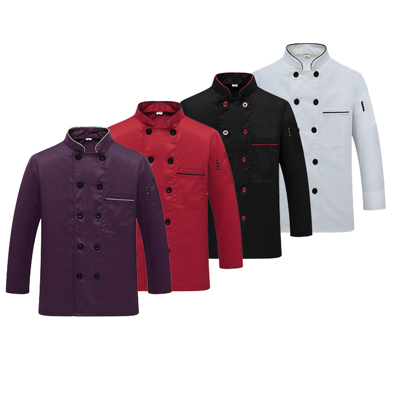 Western Hotel Chef Jacket Food Service à manches longues Restauant Chef Uniform Double Breasted Chef Clothing Kitchen Cook Wear 89