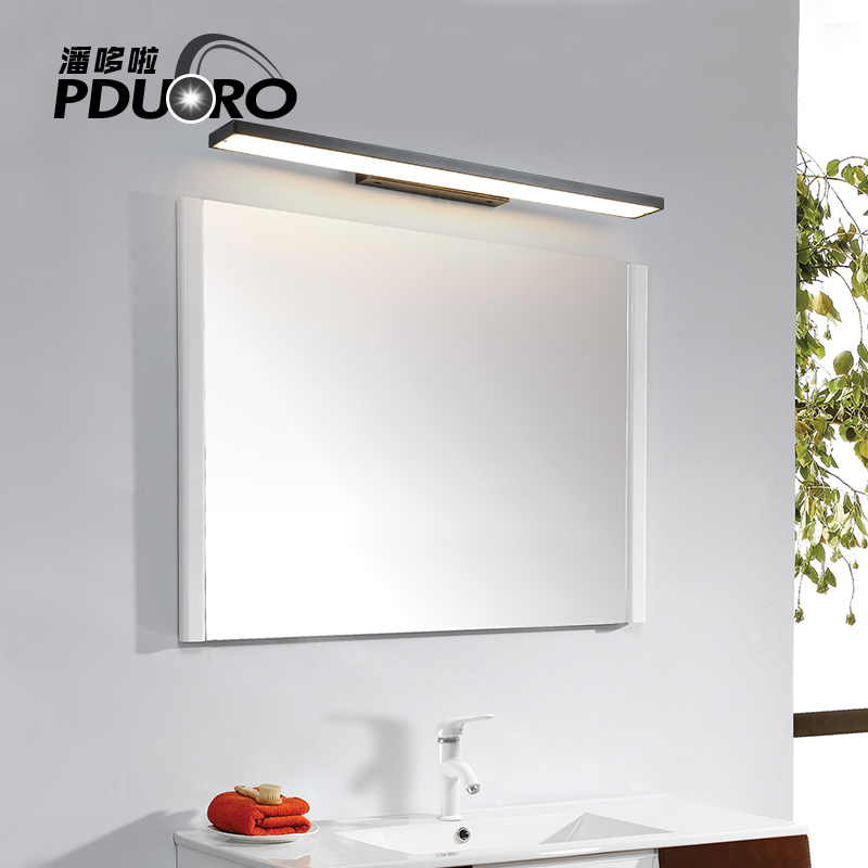 New LED Wall Lamp Bathroom makeup Led Mirror Light 14W 39cm 20W 52cm 30W 80cm AC 85V-265V With Switch Indoor Wall sconces Light traditional classic metal silvery electroplating led bathroom mirror light led wall lamps light wall sconces 1 light ac