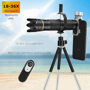 18X-36X Zoom Telescope for Samsung Xiaomi Redmi Camera Lens Clip for IPhone Huawei Mobile Telephoto Lenses for Phone lens