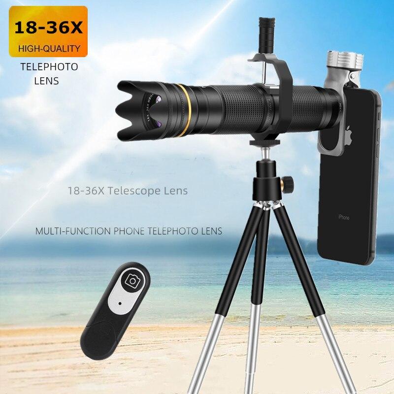 18X-36X Zoom télescope pour Samsung Xiaomi Redmi caméra lentille Clip pour IPhone Huawei Mobile téléobjectifs pour lentille de téléphone