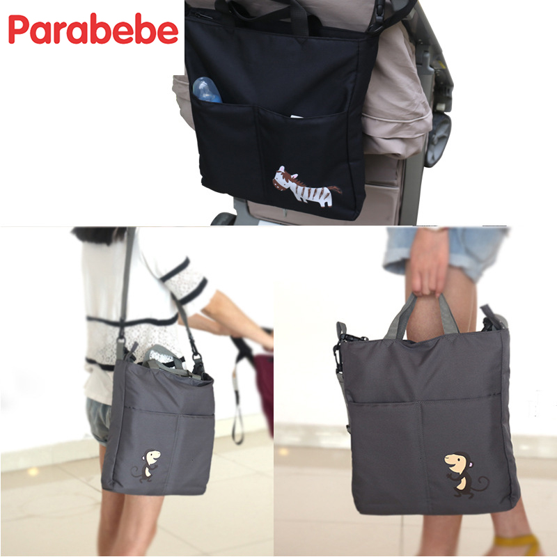 Image 5 - portable baby bag for stroller Tote maternity diaper bag for mom baby care stroller bag for cart wheelchairs nappy organizer-in Diaper Bags from Mother & Kids