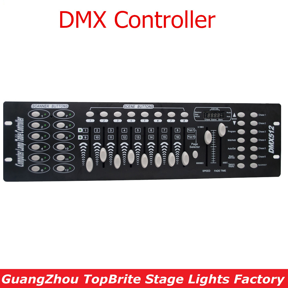 New Stage Light Controller 192CH DMX512 Controller For Stage DJ Equipment In Led Par Moving Head Beam Christmas Laser projector сковорода добрыня do 3302 1