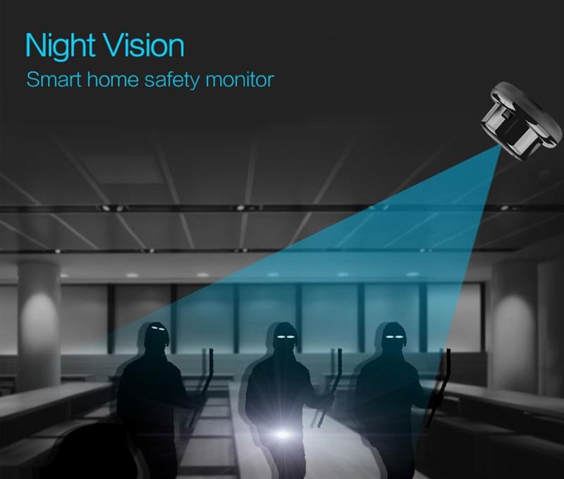 Wifi Kamera Gece görüşü ile akıllı Ev Güvenlik izleme.