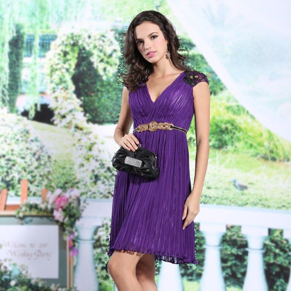 Envío gratis 2015 nueva llegada para mujer púrpura elegante cuello ...