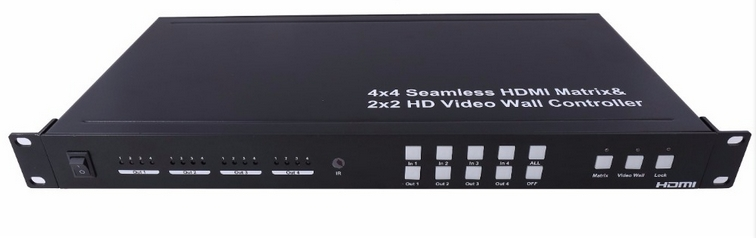2x2 4k Video Wall Controller, 4x4 Seamless Switch