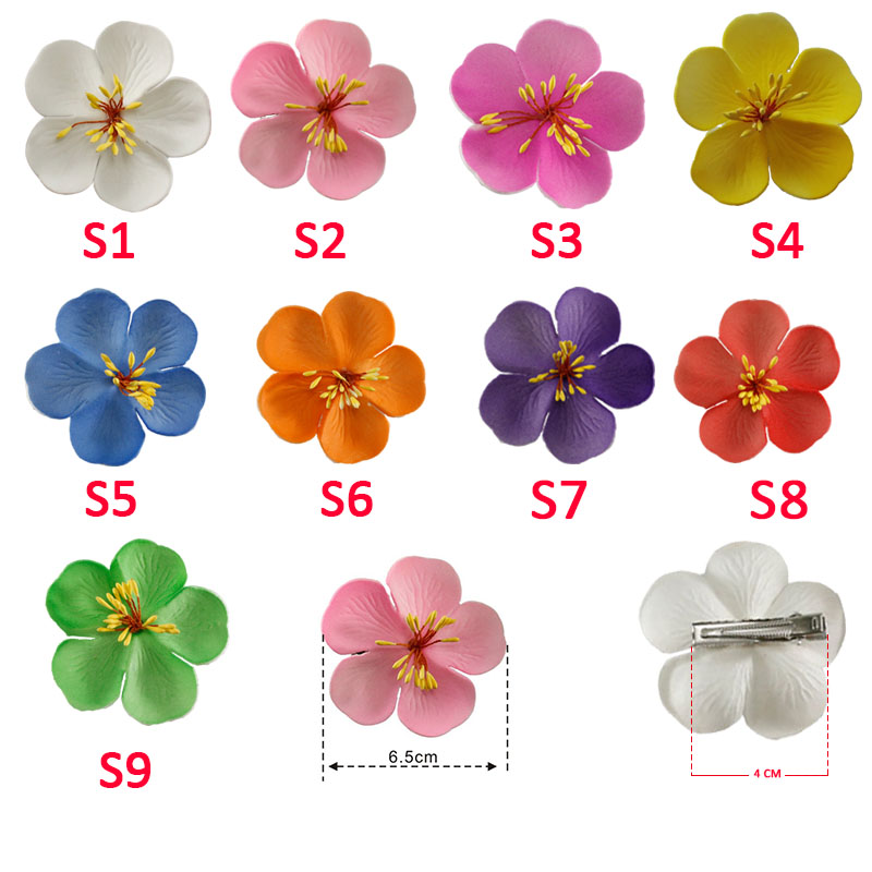 3pcs 4cm 6cm 8cm 10cm 12cmFoam Hawaiian Plumeria flower hairpin Frangipani Flower bridal hair clip in Women 39 s Hair Accessories from Apparel Accessories