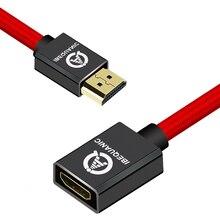 HDMI כבל מאריך זכר לנקבה 30CM/50CM/1M/2M/3M HDMI 4K 3D 1.4v HDMI מורחב כבל עבור HD הטלוויזיה LCD מחשב נייד PS3 מקרן