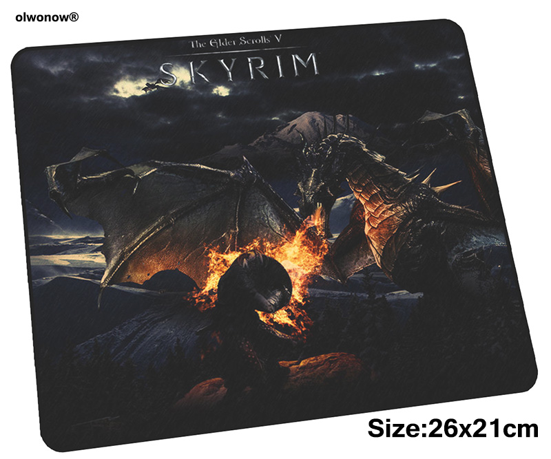 Skyrim Mousepad 26x21cm Gaming Mouse Pad Big Gamer Mat Thick Game Computer Desk Padmouse Keyboard New Arrival Play Mats