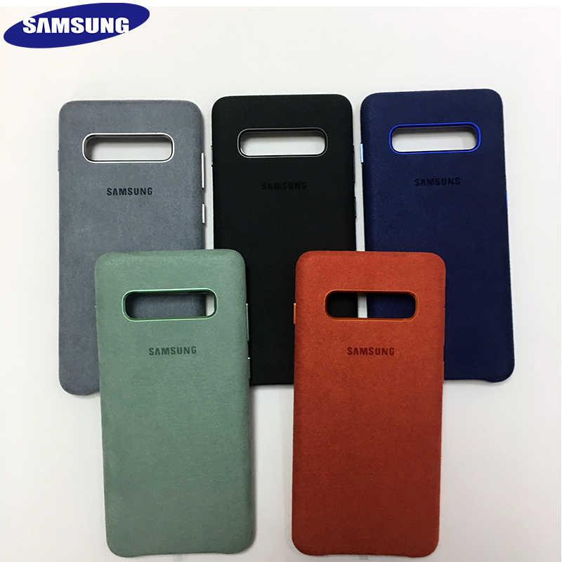 CHÍNH HÃNG Samsung S10 ALCANTARA Bìa Cho Galaxy S10 cộng với S10E Trường Hợp Bảo Vệ Da Da Lộn Fundas Coque Chống kích nổ Ban Đầu