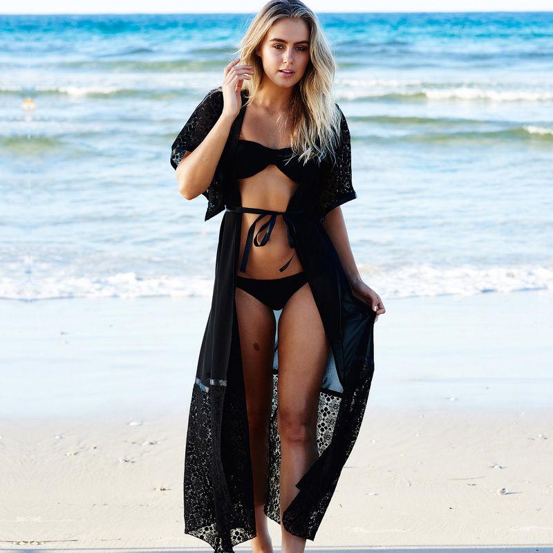 2017 Stylish Women LACE Crochet Swimsuit Bathing Cover Up Dress Kimono Cardigan woman bikini set cover ups accessories
