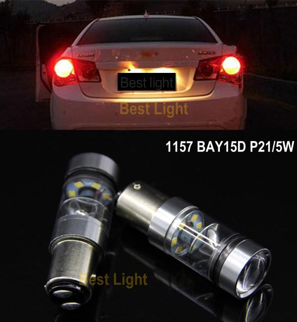 2x1157 p21/5 w sharp chips led stop/cauda lâmpadas luzes de freio para chevrolet chevy cruze epica lova aveo captiva vela de ignição