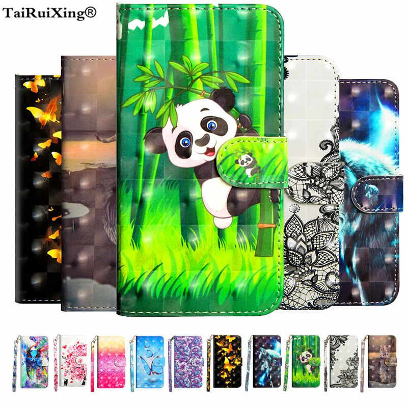 Luxury 3D Pattern Panda Leather Flip Case For ZTE Blade A610 V6 max BA510 A520 L5 Plus D6 V6 Z7 BA601 A6 Lite Nubia M2 Lite Case