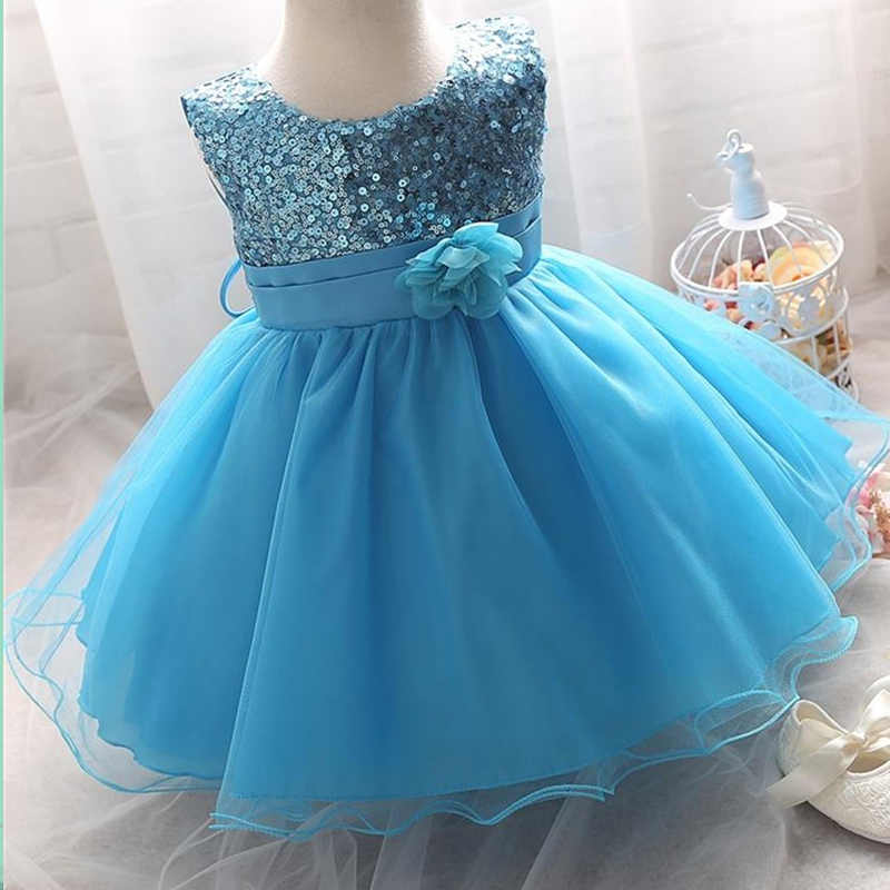 ... Infant Birthday Party Little Dress Baby Girl Christening Gowns Toddler  Kids Events Party Wear Clothes Girls ... 2ffcd4d2f630