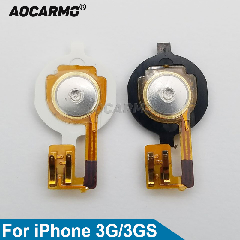 Aocarmo Main Home Button Key With Flex Cable For IPhone 3G 3GS Black/White Replacement