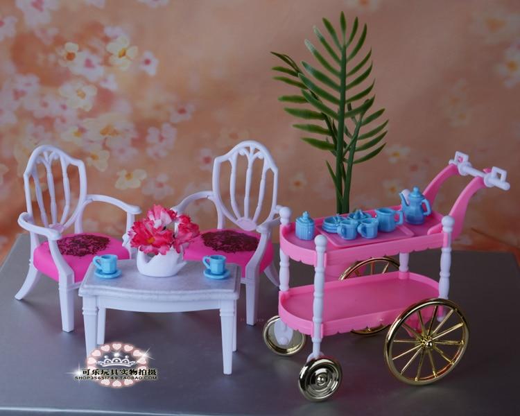Бесплатна достава дјеца играју играчке дјевојчице рођендански поклон торта ауто опрема за барбие лутку, намјештај за барбие, дјеца играју кућу