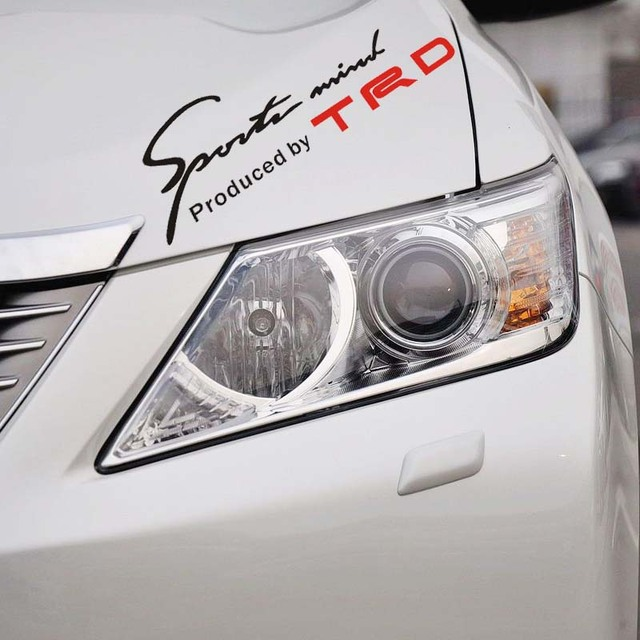 Trd Toyota Racing Development Sports Mind Clical Car Sticker And Decal Eyelids For Camry Reiz Rav 4 Corolla