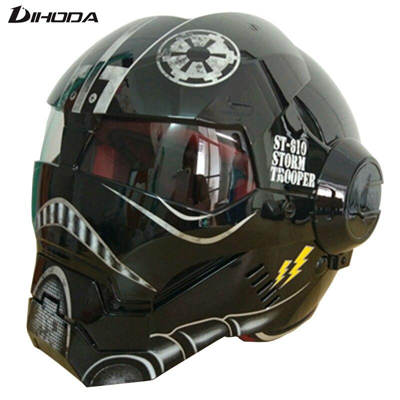 Masei яркий черный Звездные войны Мужские Женские IRONMAN железный человек шлем мотоциклетный шлем половина шлем с открытым лицом шлем мотокросс