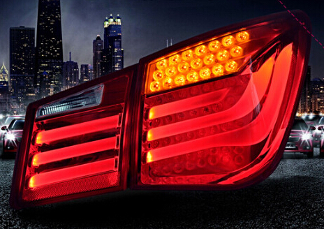 free shipping hot sale tail lights tuning b*w style fit for chevrolet cruze 2010-2013' led light bar tail lamps stop lights