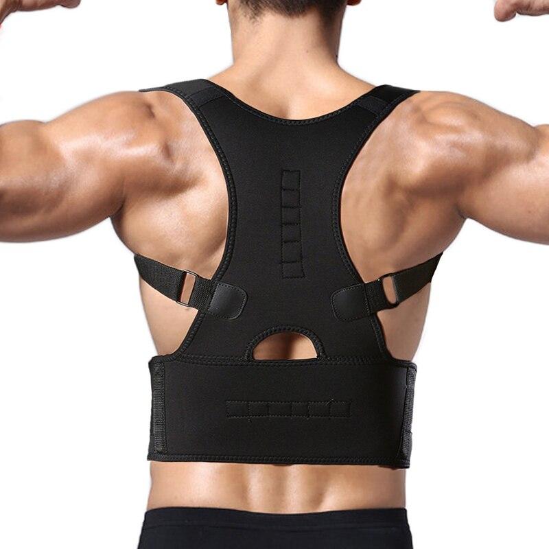 CROSS1946 Neoprene Magnetic Therapy Adjustable Back Brace Posture Corrector Lumbar Support Shoulder Belt For Men/ Women Braces