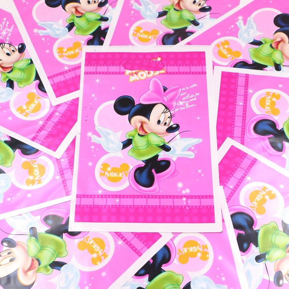 Pink Minnie Mouse Theme Historieta Embroma la Fiesta de Cumpleaños/Decoración Fe