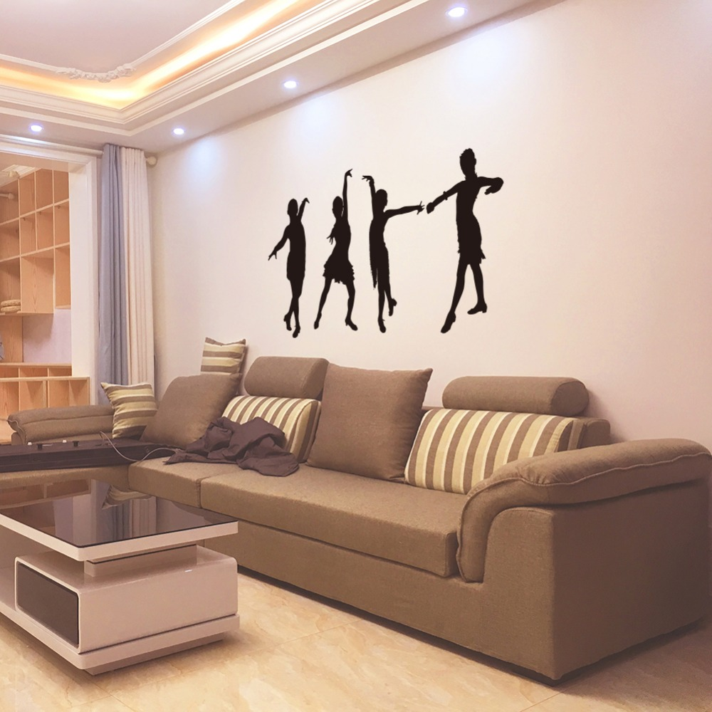 Creative Ballet Girl Acrylic Mirror Wall Stickers Bedroom Living Rooms Home Decor 3d Mirrored Decorative Sticker Wall Art Decal Home & Garden