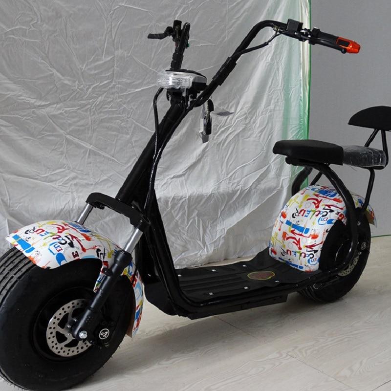Motos électriques 60 V 20A 1000 W accessoires de voiture Camping Citycoco batterie au Lithium Scooter Multi couleur à la mode et populaire