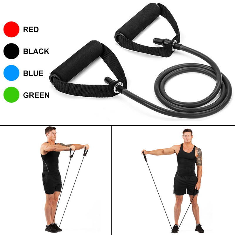 120cm Gym Resistance Bands Fitness Equipment Pull Rope Body Building Fat Burning Practical Exercise Rubber Tensile Expander Line