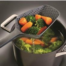 1Pc 8Colors Cooking Shovels Vegetable Strainer Scoop Nylon Spoon Large Colander Soup Filter Kitchen Tools