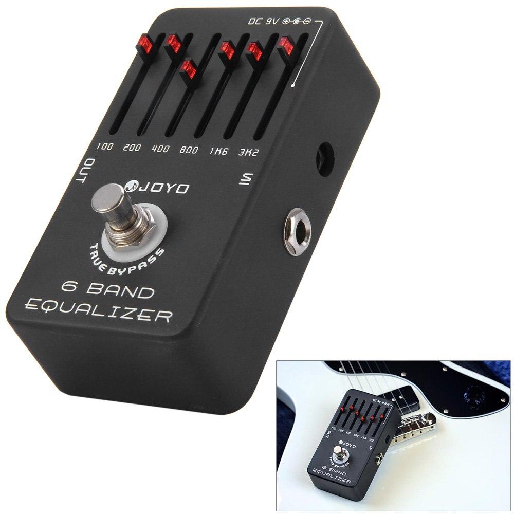 JOYO JF-11 True Bypass Conception 6 Bandes EQ Égaliseur Électrique Guitare Pédale D'effet DC 9 v 100 hz 200 hz 400 hz 800 hz 1.6 mhz