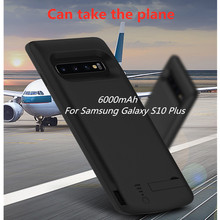 Backup Power Bank Cover For Samsung Galaxy S10 Plus Portable Battery Charger Case 6000mAh Extended Phone