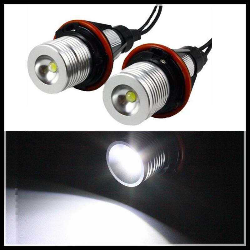 Prix pour Led marker angel eyes xenon blanc led ange yeux halo lumière ampoule pas d'erreur pour bmw e39 e83 x3 (06-10) e53 x5 (04-06)