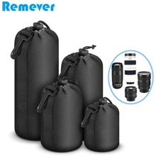 Neoprene Waterproof Protective Storage Bags for Lens Drawstring Bags Pouch for Canon Nikon