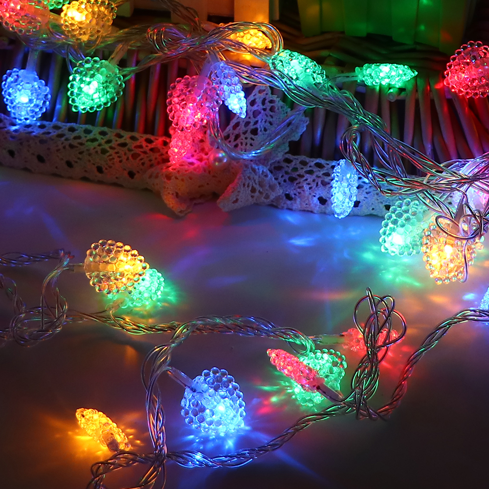 5m 40 bulbs battery LED Heart string lights garland Christmas decorations lights new year wedding holiday decorative lights ...